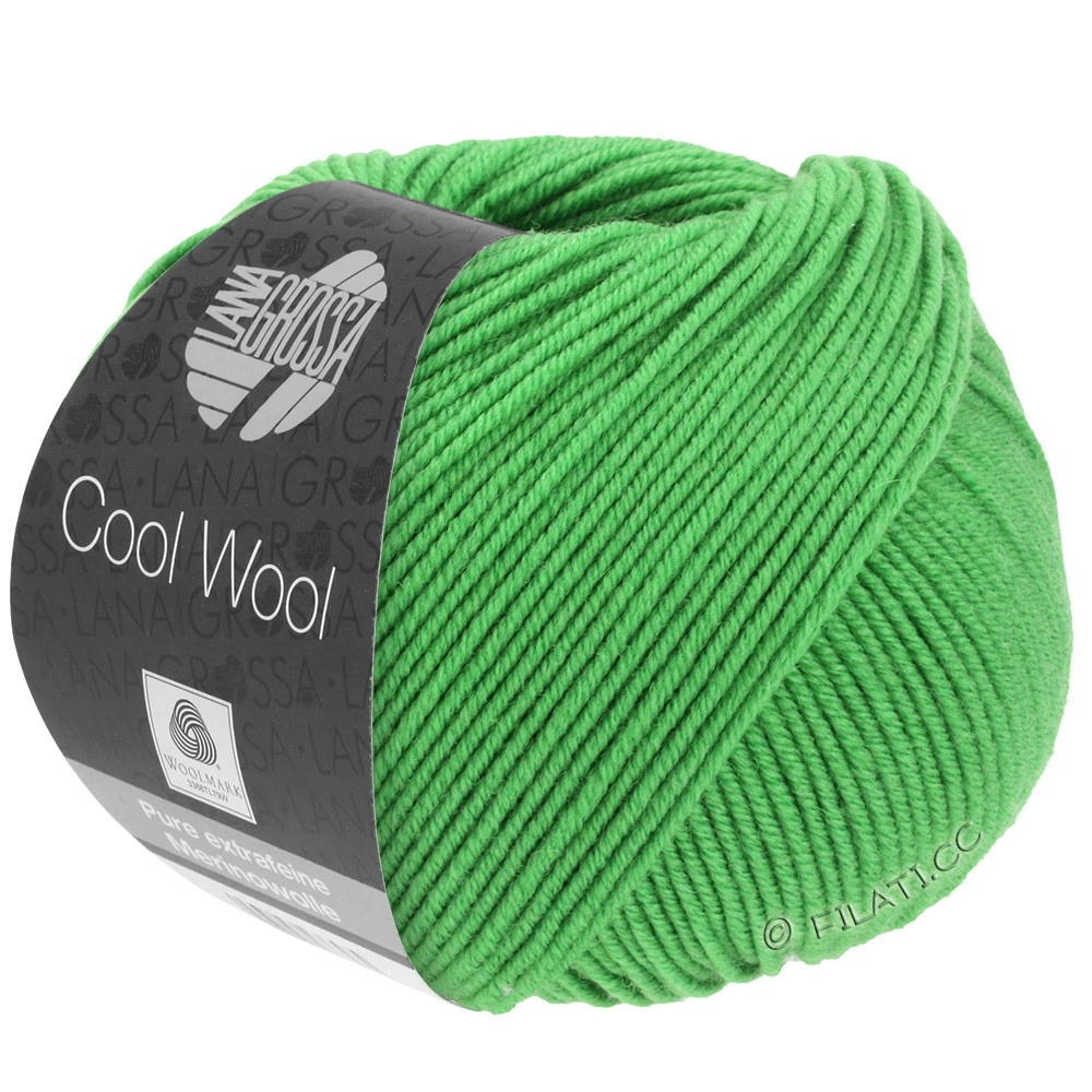 Lana Grossa COOL WOOL   Uni/Melange/Neon | 0504-Apfelgrün