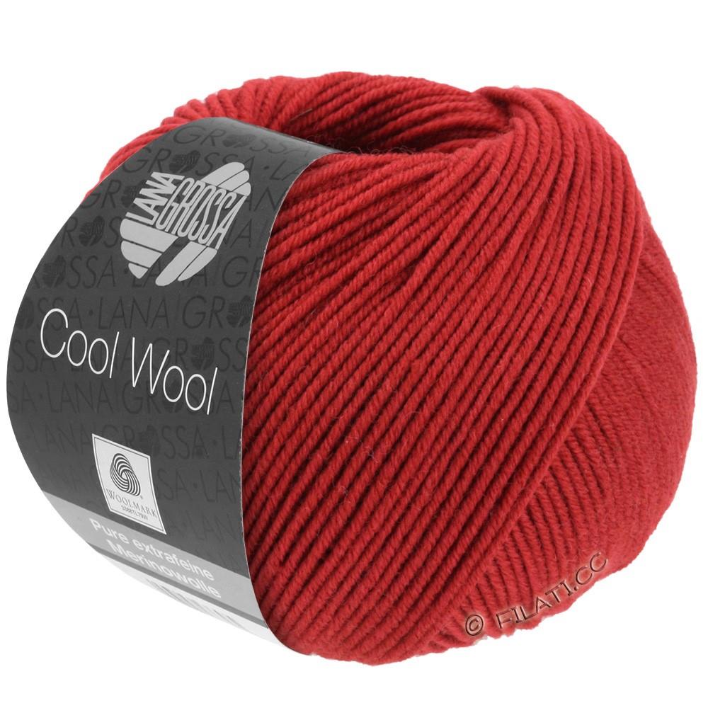 Lana Grossa COOL WOOL   Uni/Melange/Neon | 0514-Dunkelrot
