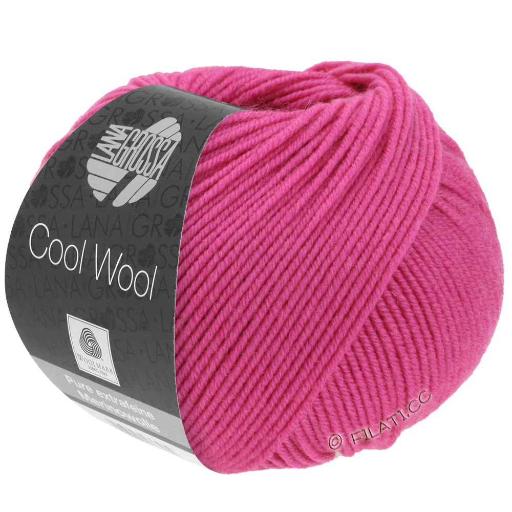 Lana Grossa COOL WOOL   Uni/Melange/Neon | 0537-Zyklam