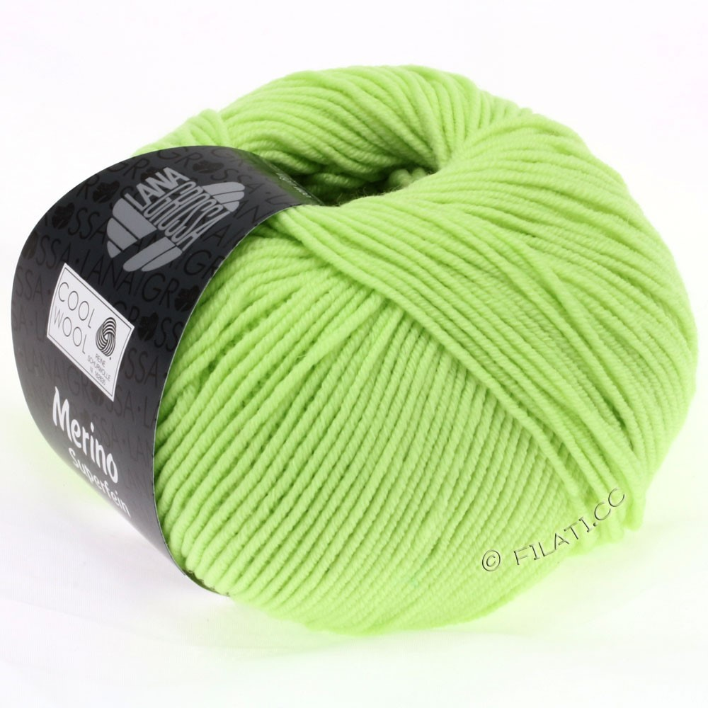 Lana Grossa COOL WOOL   Uni/Melange/Neon | 0540-Blassgrün