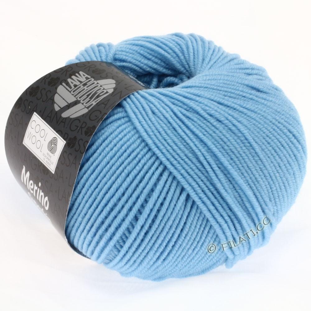 Lana Grossa COOL WOOL   Uni/Melange/Neon   0572-Mittelblau