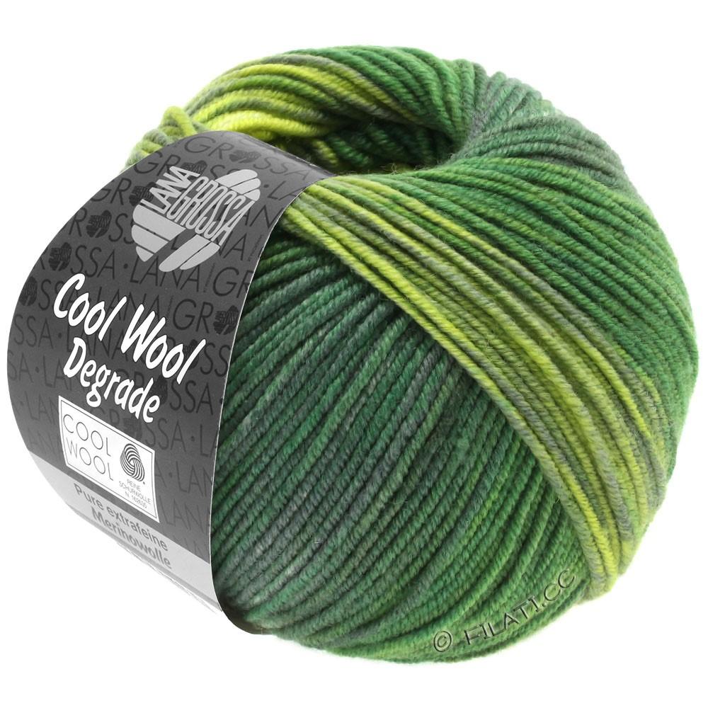 Lana Grossa COOL WOOL  Degradé | 6011-Gelbgrün/Dunkelgrün/Graugrün