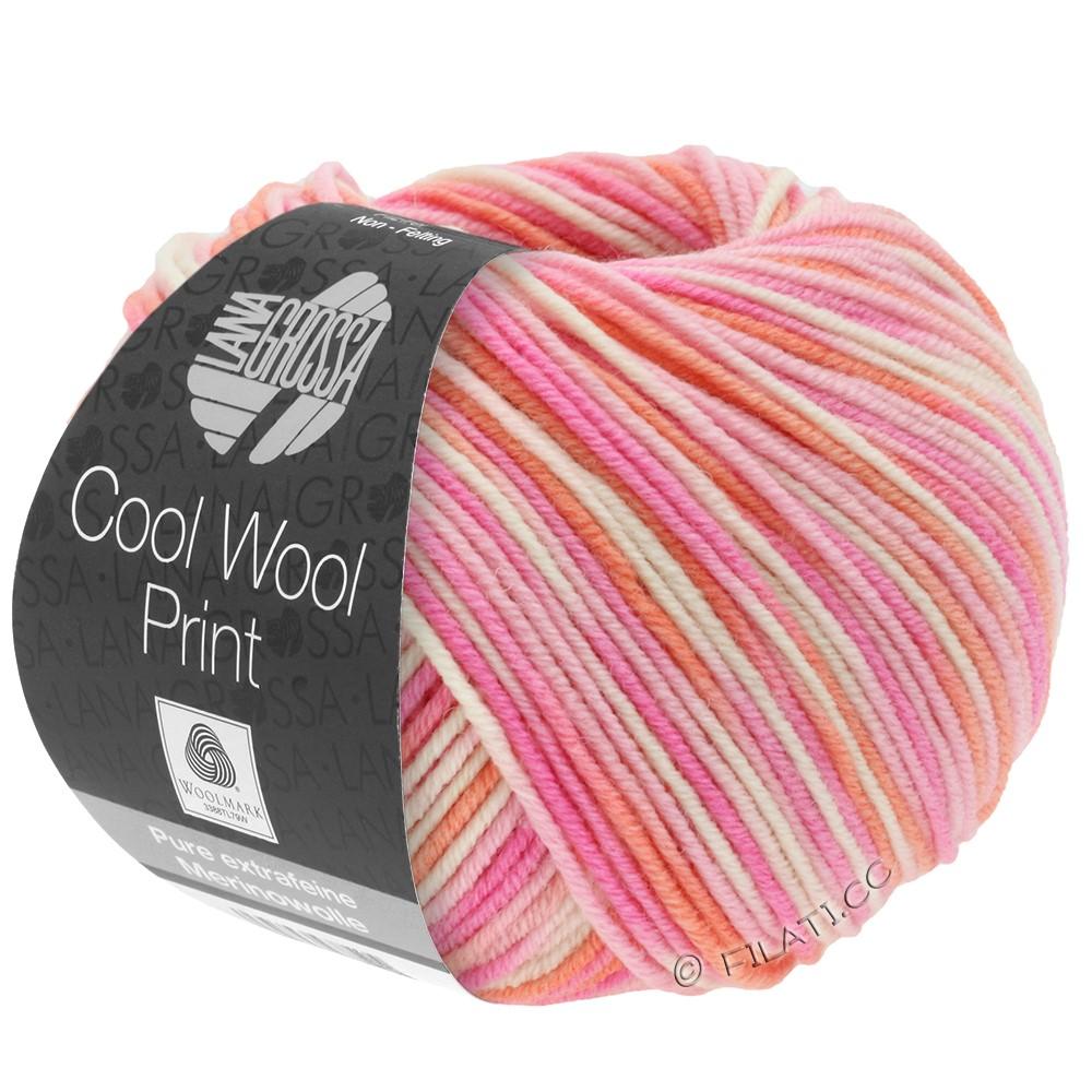 Lana Grossa COOL WOOL  Print | 726-Rosa/Pink/Koralle/Natur