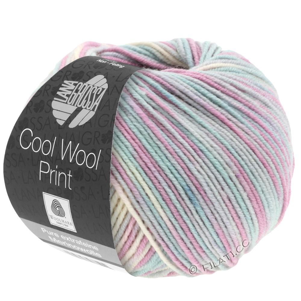 Lana Grossa COOL WOOL  Print | 792-Silbergrau/Mint/Flieder/Blassrosa