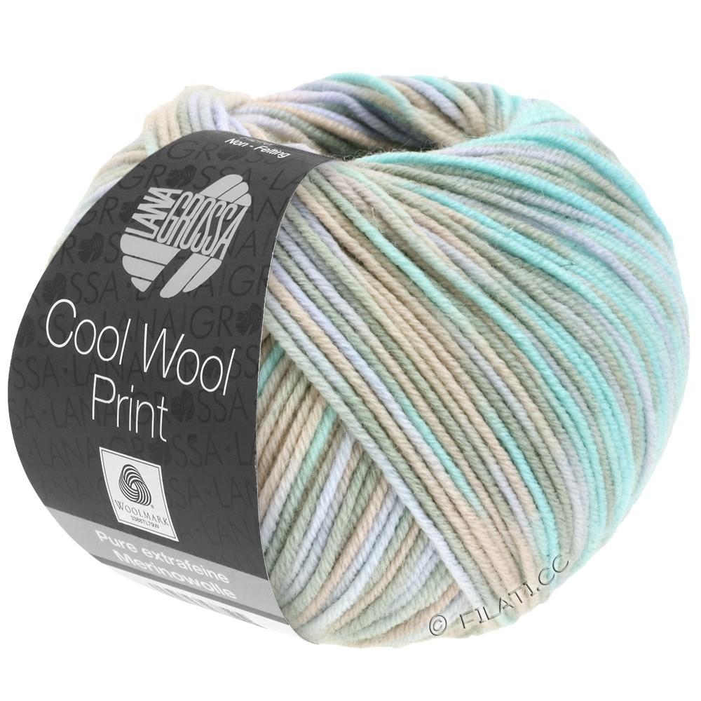 Lana Grossa COOL WOOL  Print | 793-Grège/Beige/Mint/Blasslila
