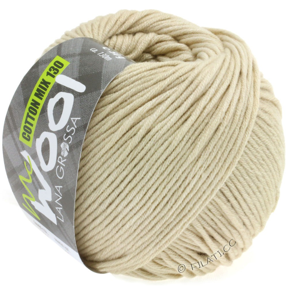 Lana Grossa COTTON MIX 130 (McWool) | 130-Natur