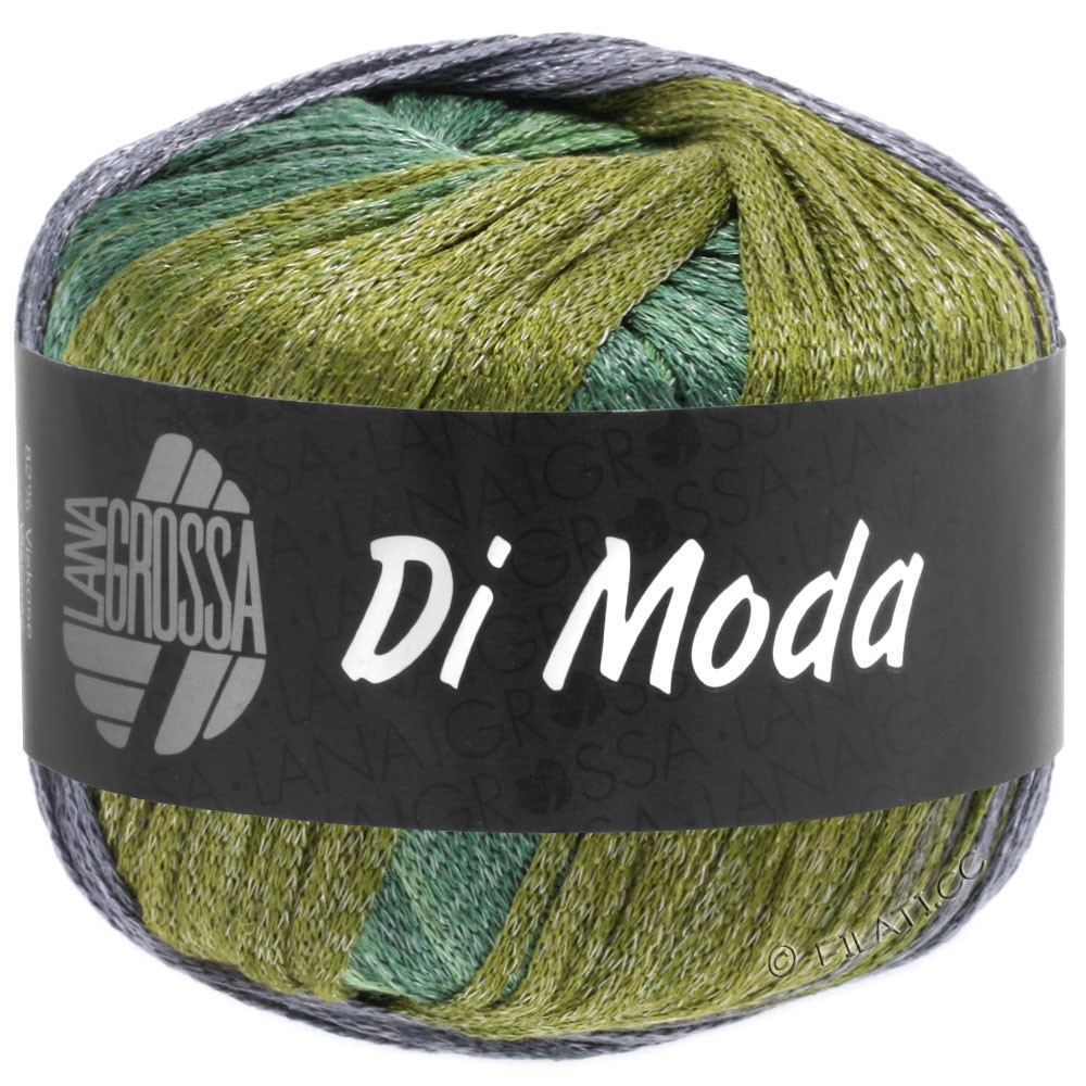 Lana Grossa DI MODA | 18-Oliv/Antikviolett/Dunkelgrün/Mittelgrün