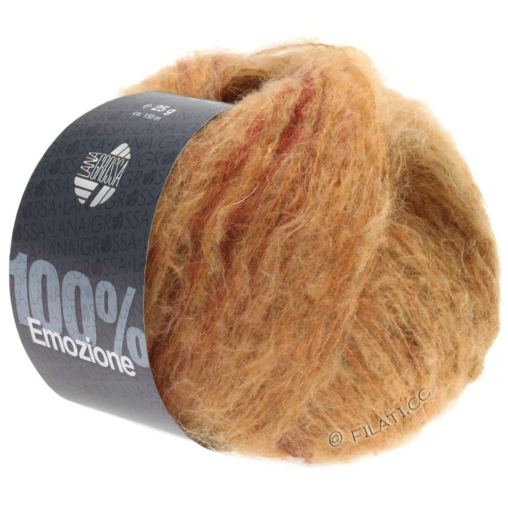 Lana Grossa EMOZIONE Degradé | 108-Beige/Camel/Terracotta