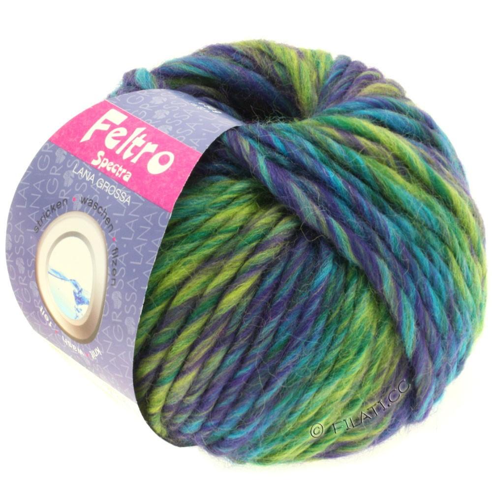 Lana Grossa FELTRO Spectra | 802-Violett/Gelbgrün/Petrol/Türkis