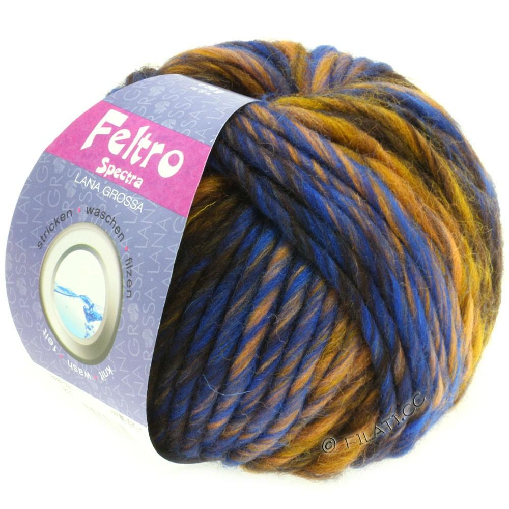 Lana Grossa FELTRO Spectra | 812-Ocker/Blau/Gold/Mokka