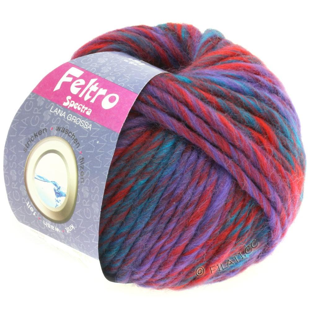 Lana Grossa FELTRO Spectra | 816-Dunkelrot/Violett/Petrol