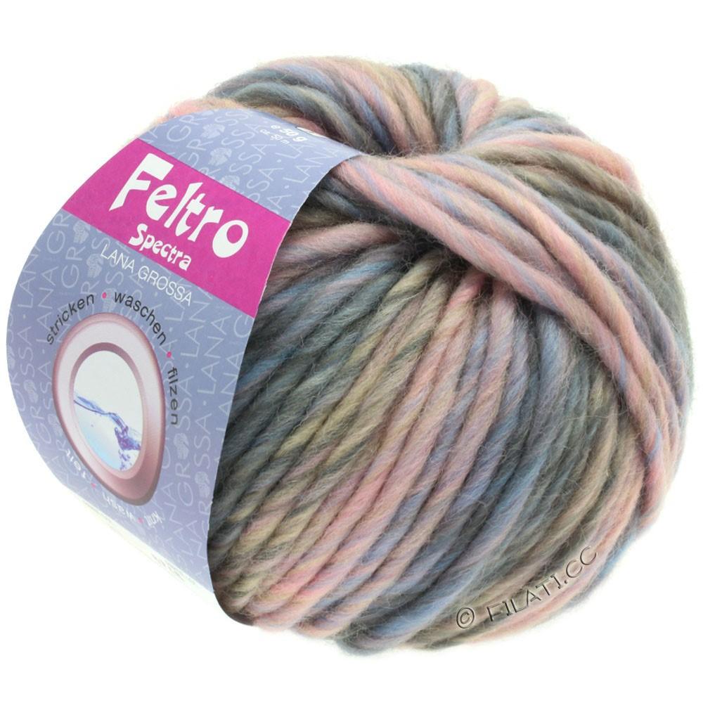 Lana Grossa FELTRO Spectra | 817-Rosa/Hellblau/Grau/Taupe