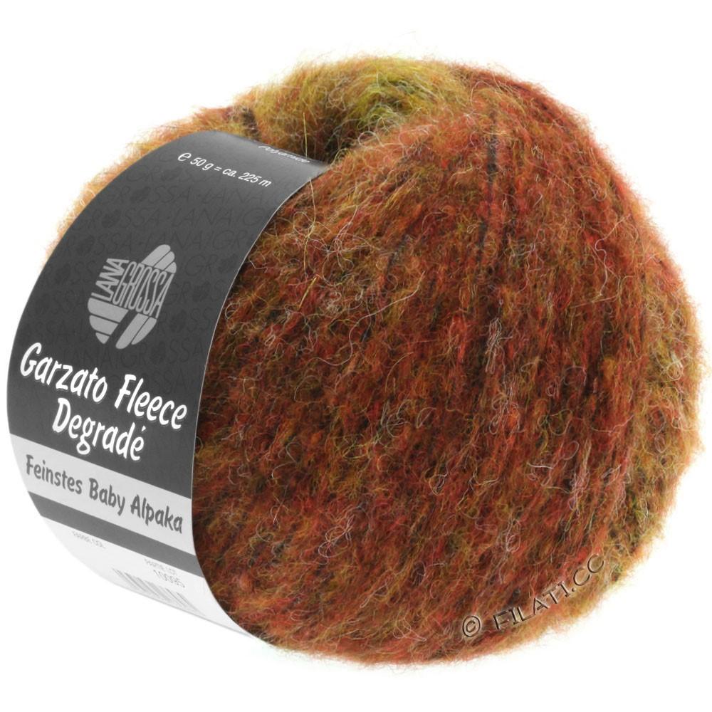 Lana Grossa GARZATO Fleece Uni/Print/Degradé   314-Goldgelb/Orange/Rot