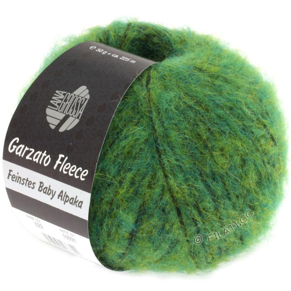 Lana Grossa GARZATO Fleece Uni/Print/Degradé   022-Grün/Gelb/Schwarz