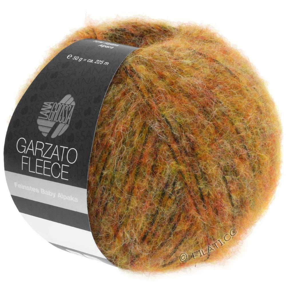 Lana Grossa GARZATO Fleece Uni/Print/Degradé   029-Gelb/Orange/Schwarz