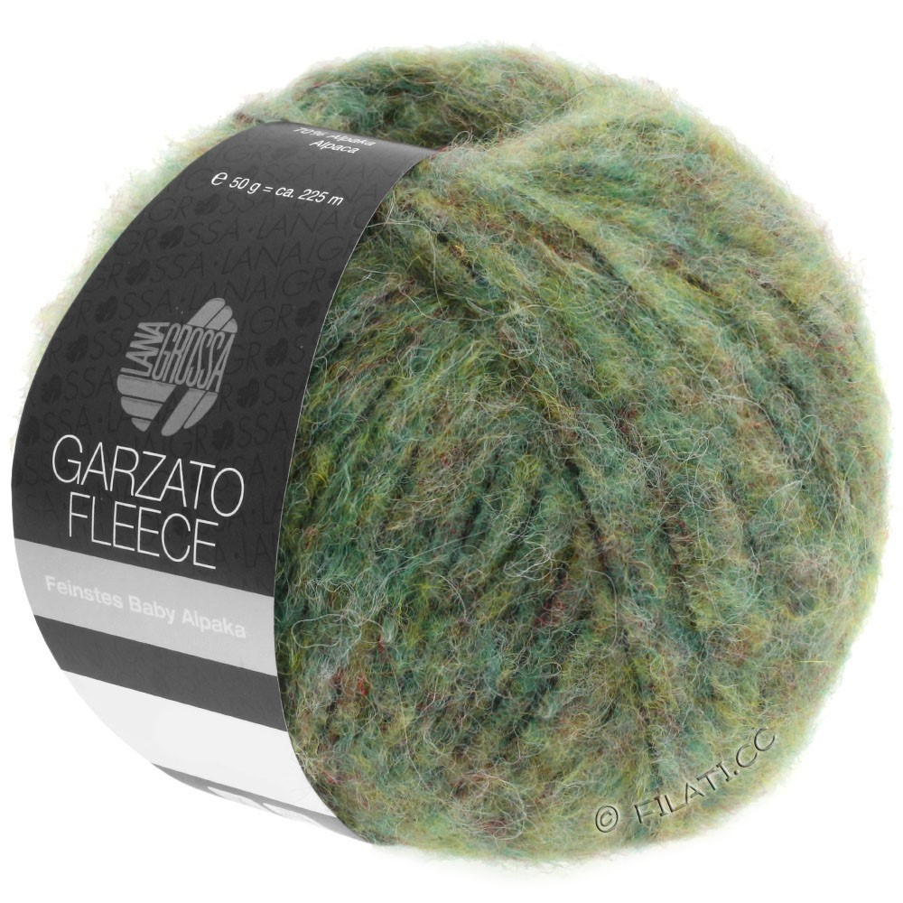 Lana Grossa GARZATO Fleece Uni/Print/Degradé   030-Hellgrün/Gelbgrün/Schwarz