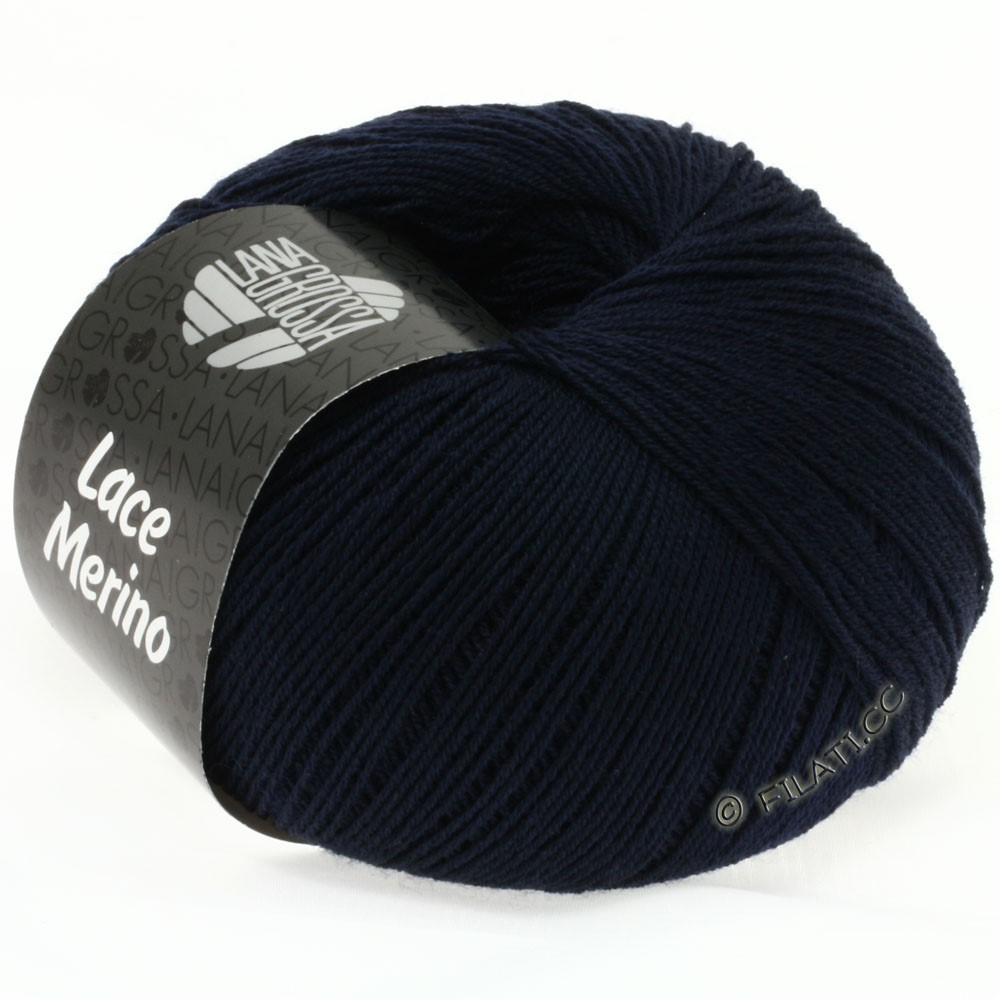 Lana Grossa LACE Merino  Uni | 17-Nachtblau