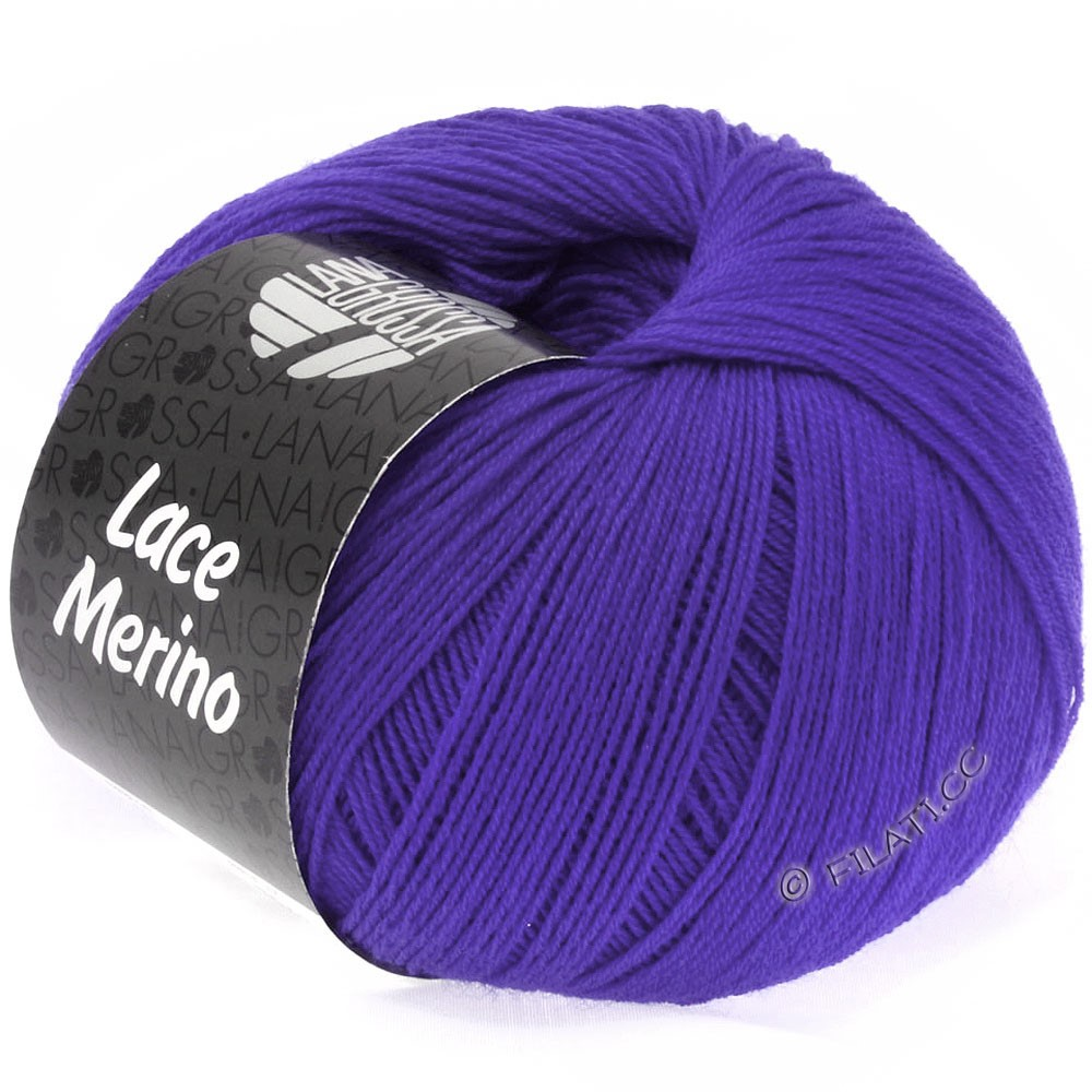 Lana Grossa LACE Merino  Uni | 27-Blauviolett