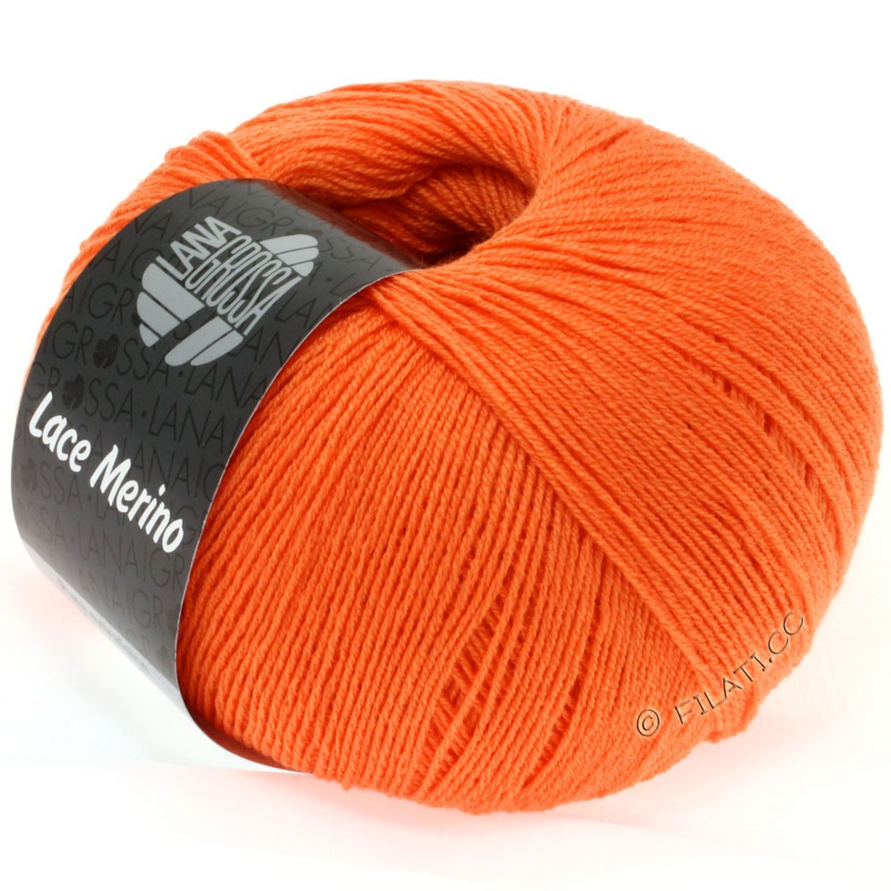 Lana Grossa LACE Merino  Uni   34-Orange
