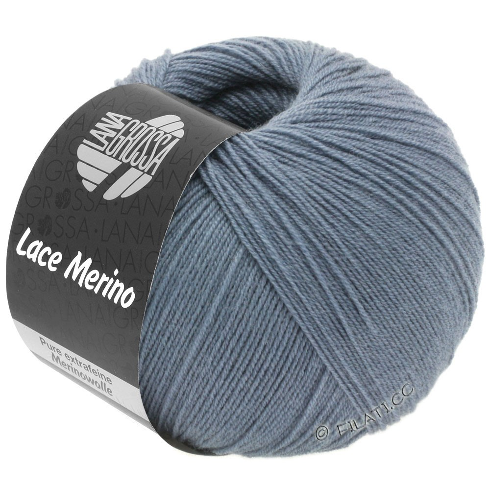 Lana Grossa LACE Merino  Uni | 53-Taubenblau