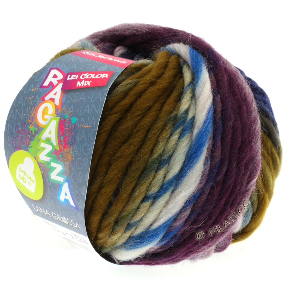 Lana Grossa LEI Mouliné/Color Mix/Spray (Ragazza)   154-Natur/Grau/Umbra/Schwarzblau
