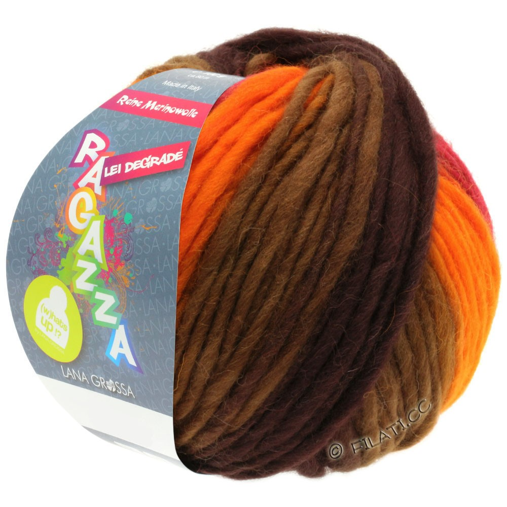 Lana Grossa LEI Degradé (Ragazza)   506-Orange/Rot/Braun