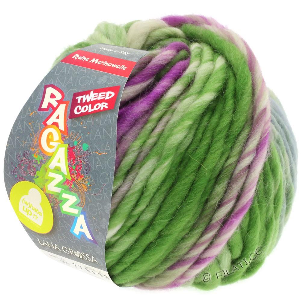 Lana Grossa LEI Tweed Color (Ragazza) | 402-Blaugrau/Grün/Rotviolett meliert