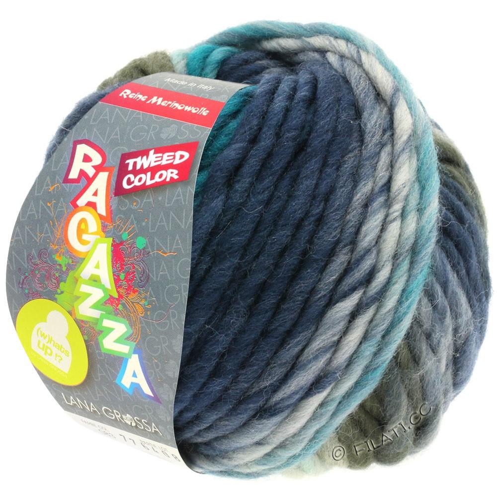Lana Grossa LEI Tweed Color (Ragazza) | 403-Hellblau/Blaugrau/Dunkelblau meliert
