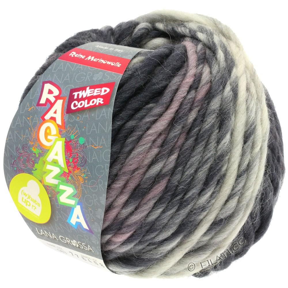 Lana Grossa LEI Tweed Color (Ragazza) | 405-Hellgrau/Mittelgrau/Dunkelgrau meliert