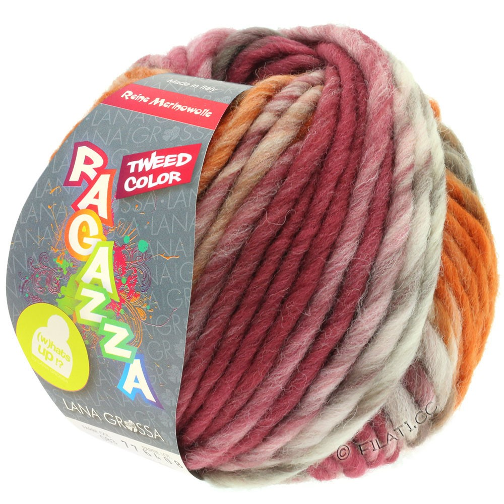 Lana Grossa LEI Tweed Color (Ragazza) | 406-Natur/Taupe/Schokobraun/Rosenholz/Cognac meliert