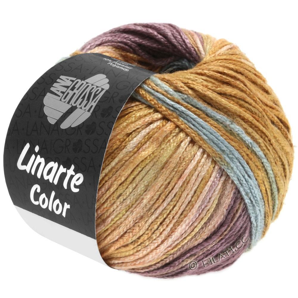 Lana Grossa LINARTE Color | 201-Minttürkis/Beigerot/Antikviolett/Ockerbraun