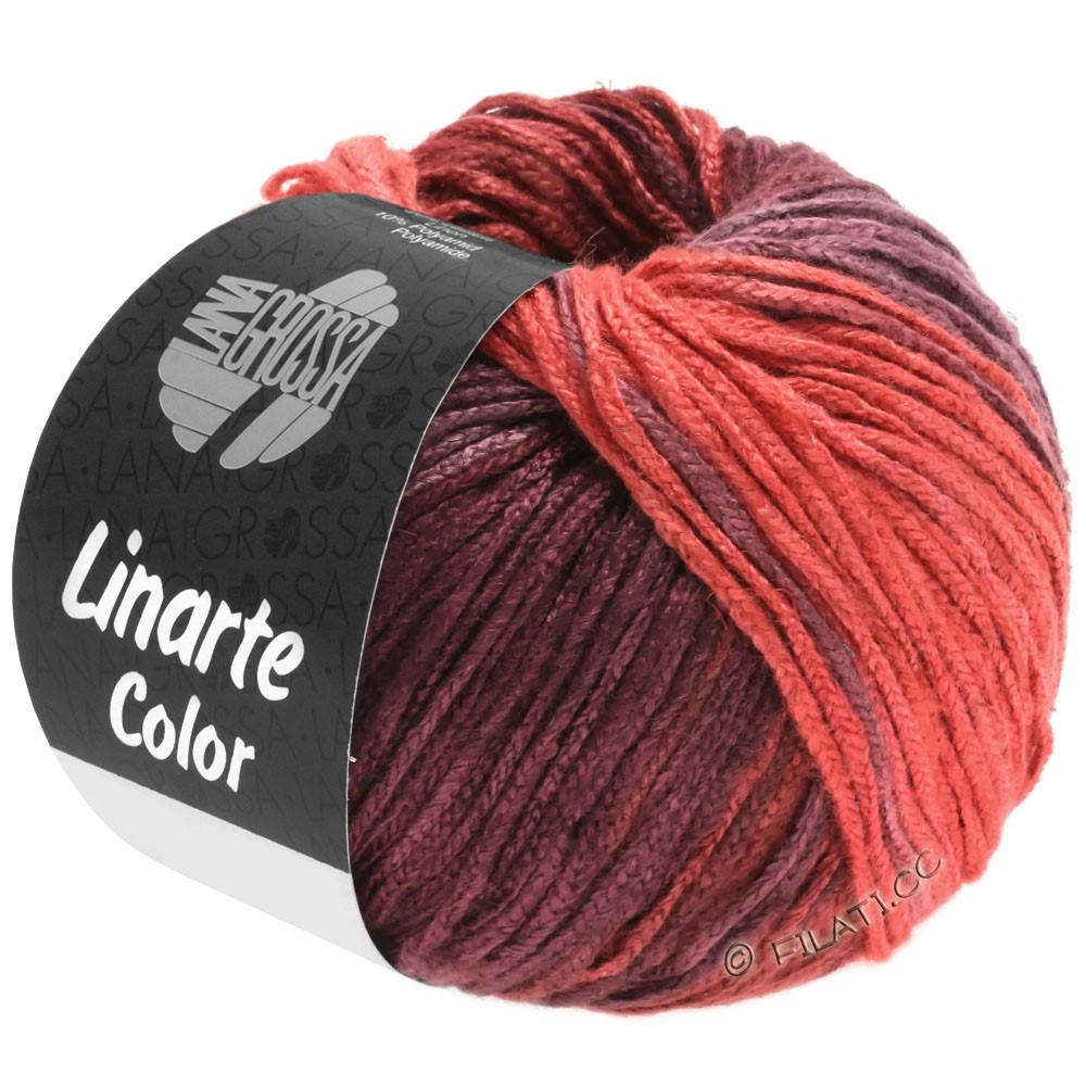 Lana Grossa LINARTE Color | 204-Erdbeerrot/Bordeauxviolett/Weinrot/Perlrubinrot
