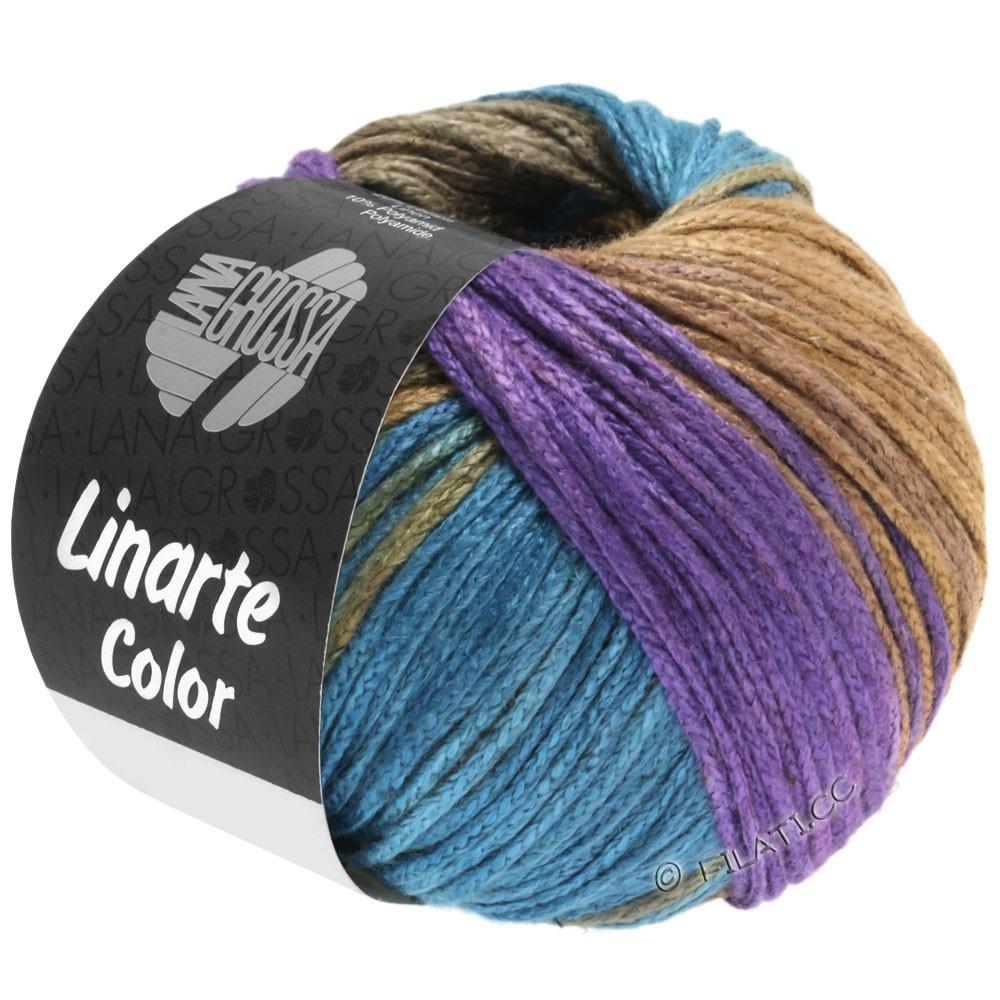 Lana Grossa LINARTE Color | 208-Violett/Petrol/Khaki/Sandgelb