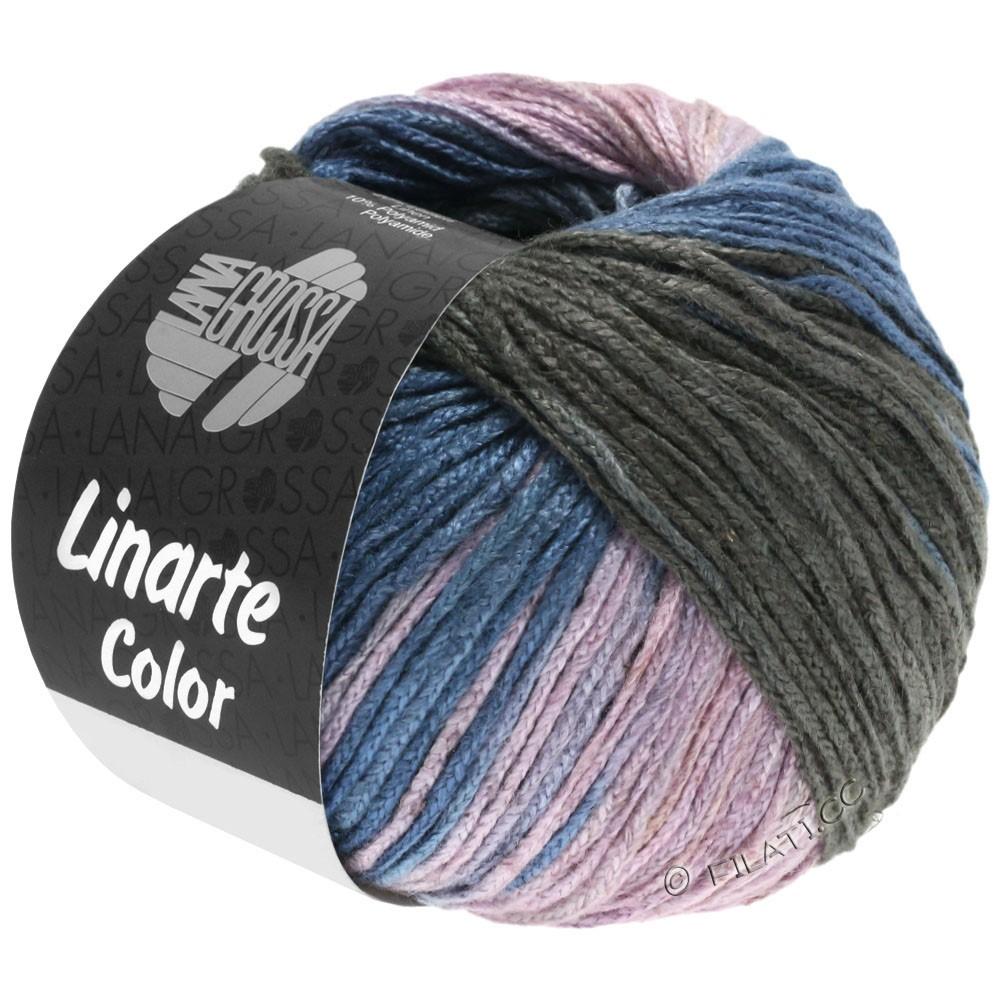 Lana Grossa LINARTE Color | 209-Graublau/Graphit/Rosé/Khaki