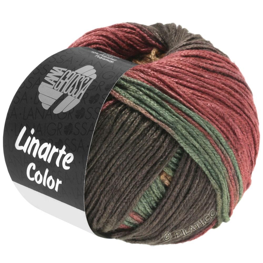 Lana Grossa LINARTE Color | 211-Mokka/Sand/Rotbraun/Resedagrün