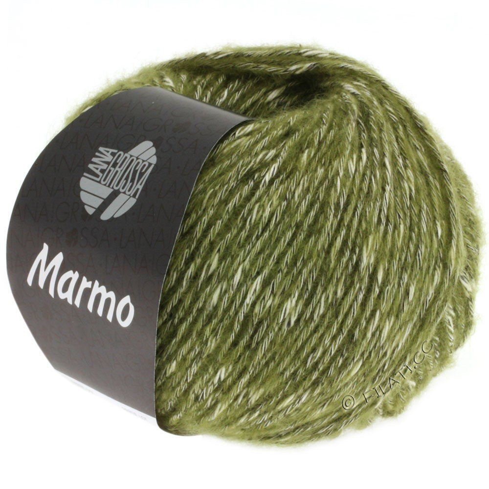 Lana Grossa MARMO | 008-Olivgrün/Rohweiß/Schwarzbraun