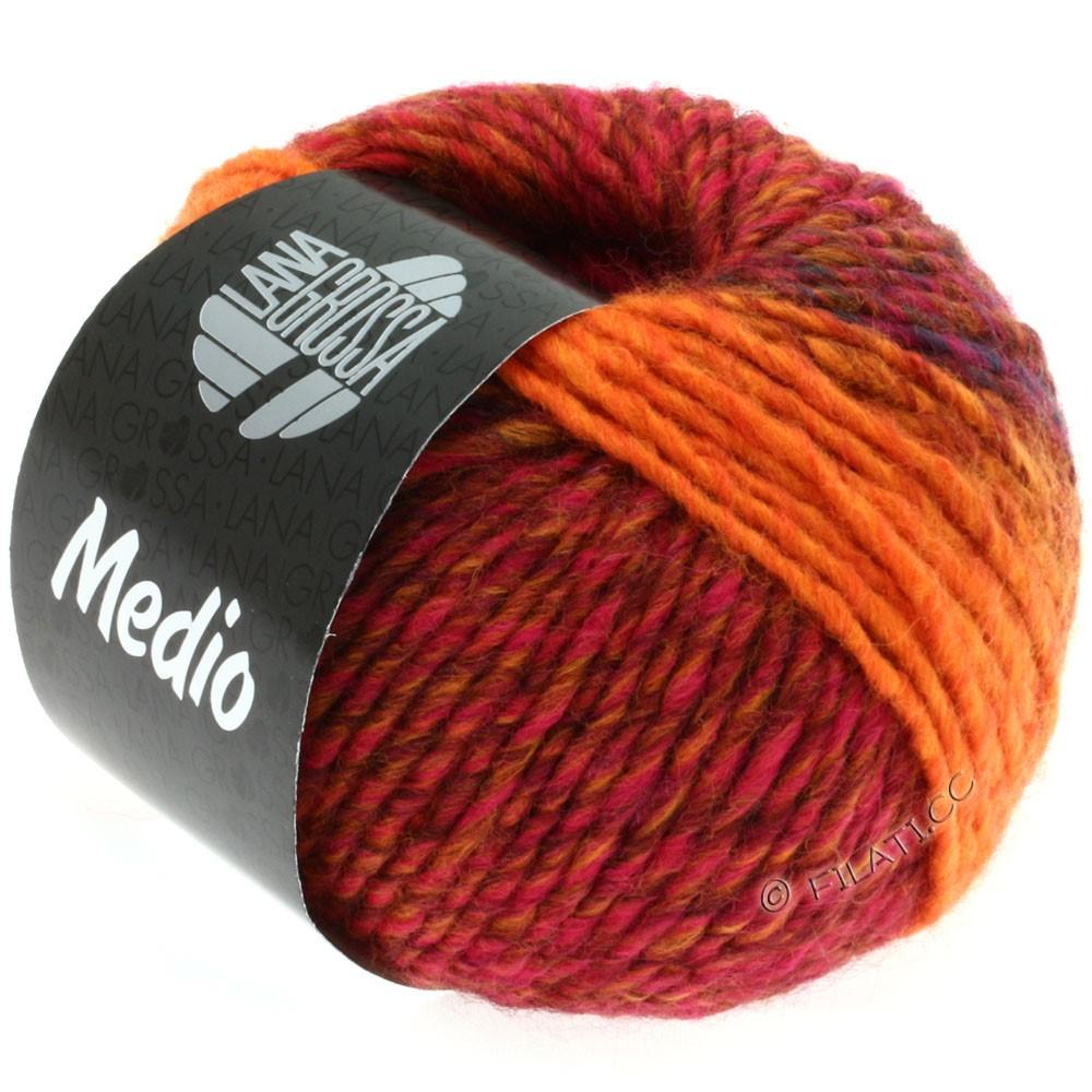 Lana Grossa MEDIO | 13-Rot/Blau/Pink/Orange/Zimtbraun