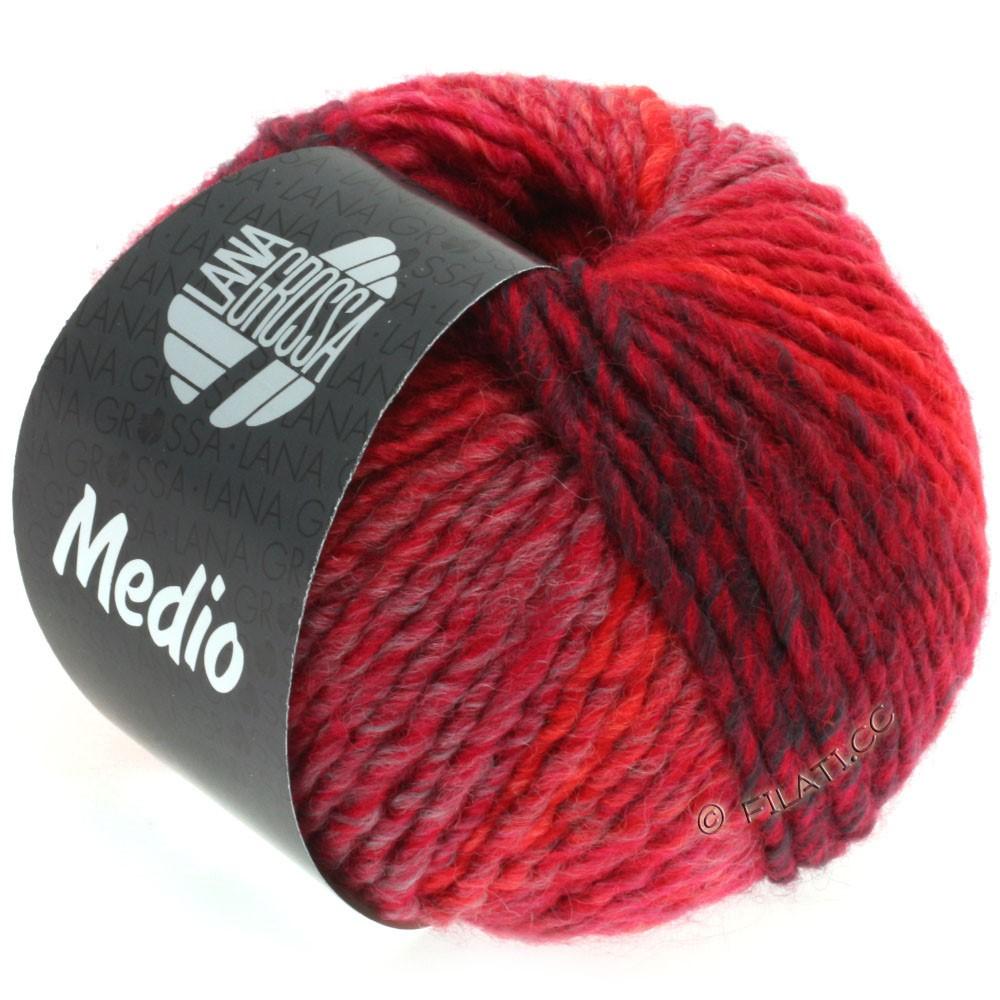 Lana Grossa MEDIO | 34-Pink/Zyklam/Rot/Burgund/Flieder