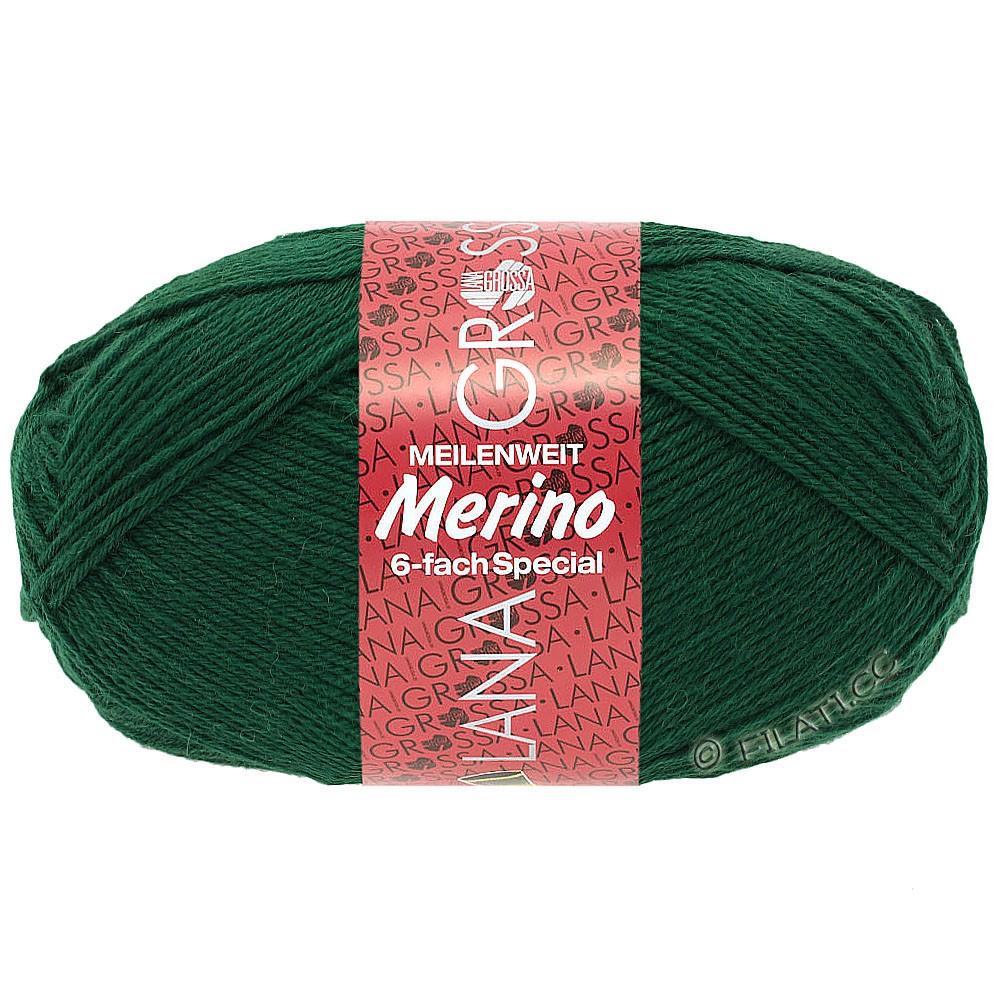 Lana Grossa MEILENWEIT 6-FACH 150g Merino | 0004-Flaschengrün