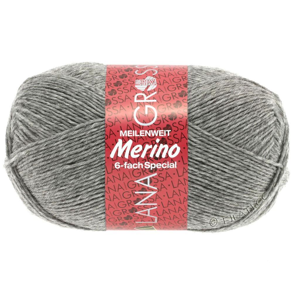 Lana Grossa MEILENWEIT 6-FACH 150g Merino | 0006-Grau