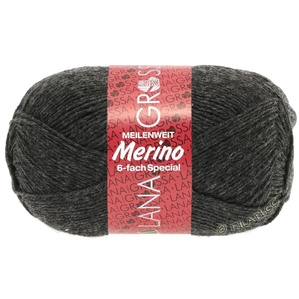 Lana Grossa MEILENWEIT 6-FACH 150g Merino | 0007-Anthrazit
