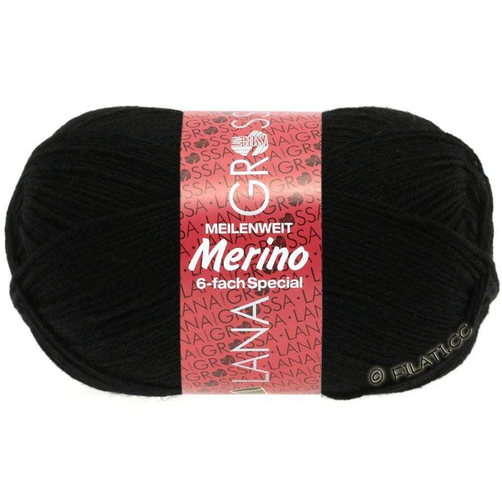 Lana Grossa MEILENWEIT 6-FACH 150g Merino | 0008-Schwarz