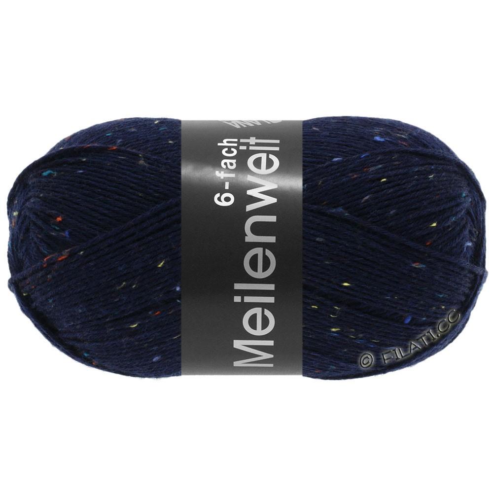 Lana Grossa MEILENWEIT 6-FACH 150g Print/Tweed | 8816-Nachtblau meliert