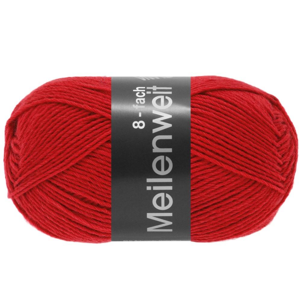 Lana Grossa MEILENWEIT 8-FACH 100g Uni | 9555-Rot