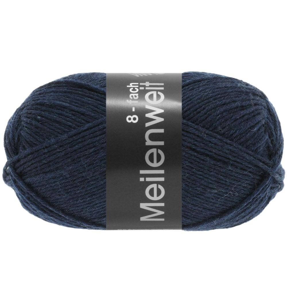 Lana Grossa MEILENWEIT 8-FACH 100g Uni | 9556-Nachtblau