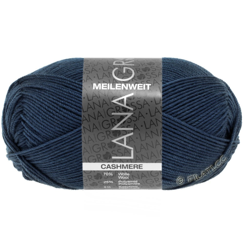 Lana Grossa MEILENWEIT 50g Cashmere | 09-Nachtblau
