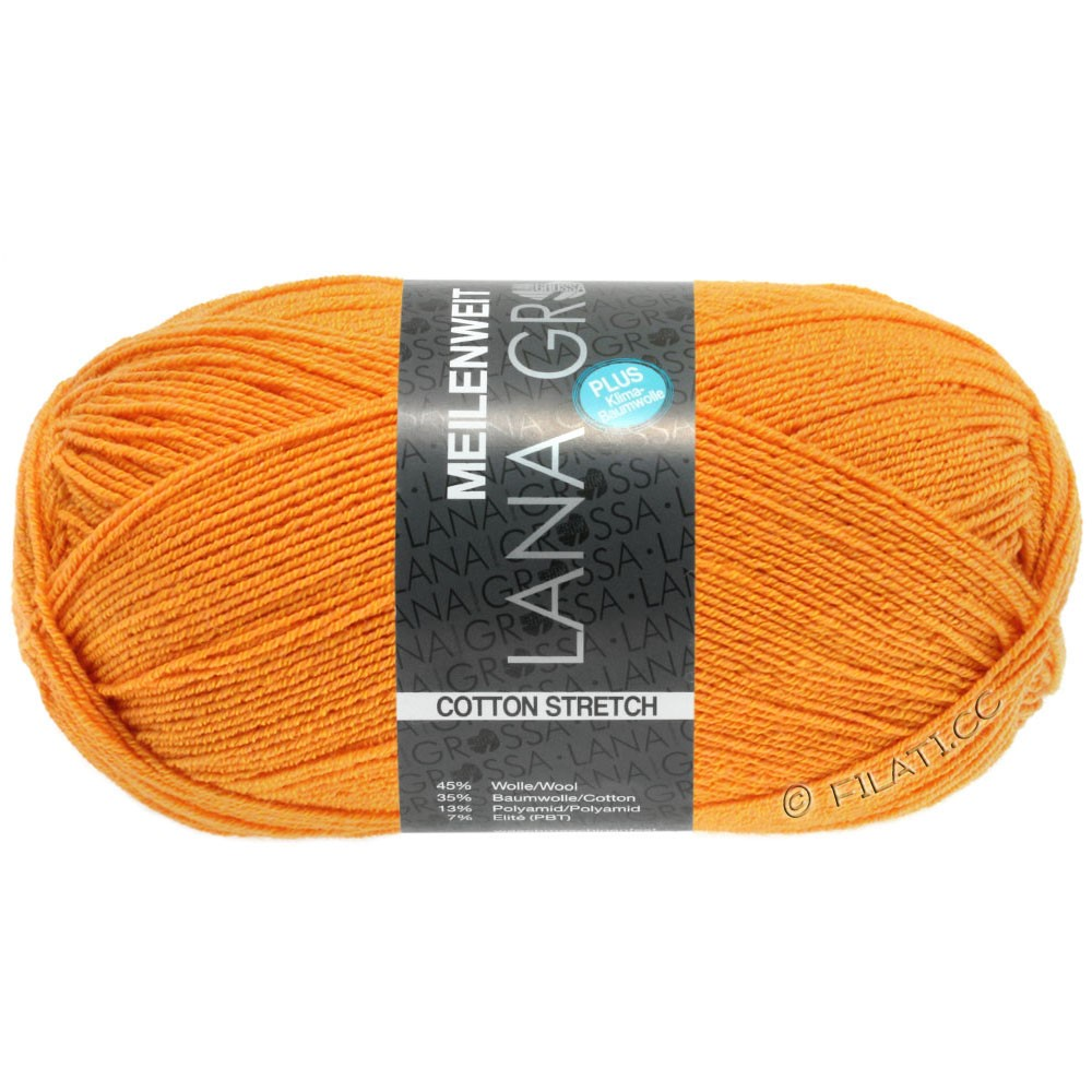 Lana Grossa MEILENWEIT 100g Cotton Stretch | 8044-Mandarin