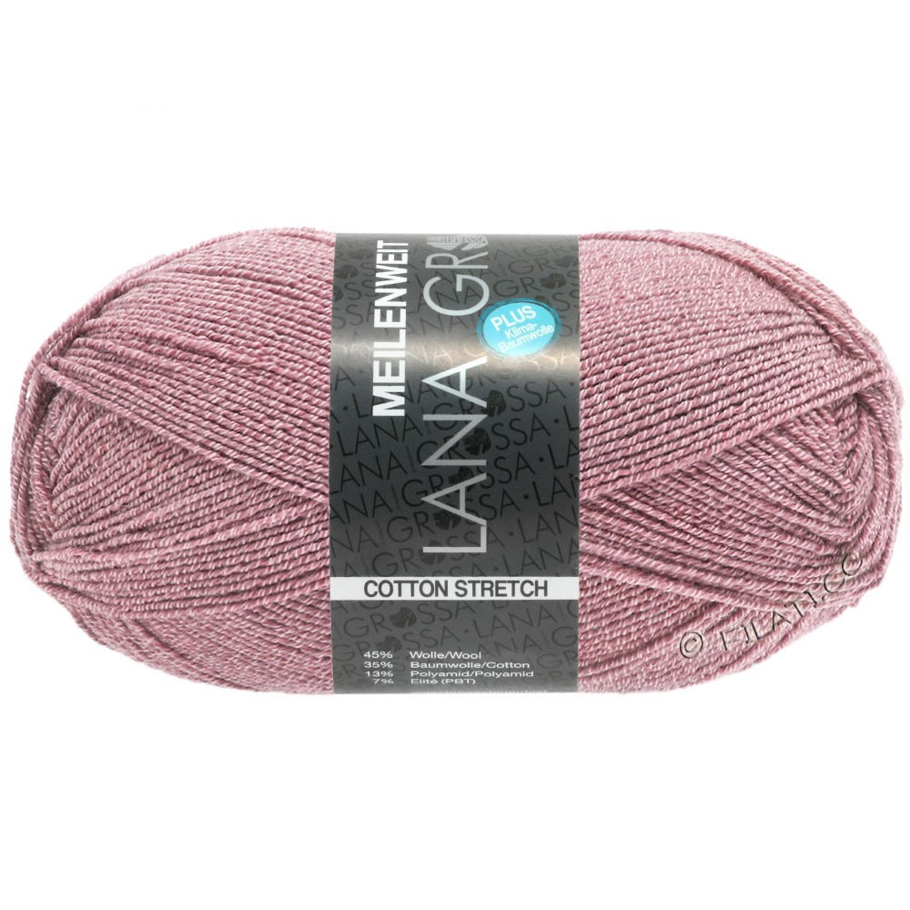 Lana Grossa MEILENWEIT 100g Cotton Stretch | 8047-Altrosa