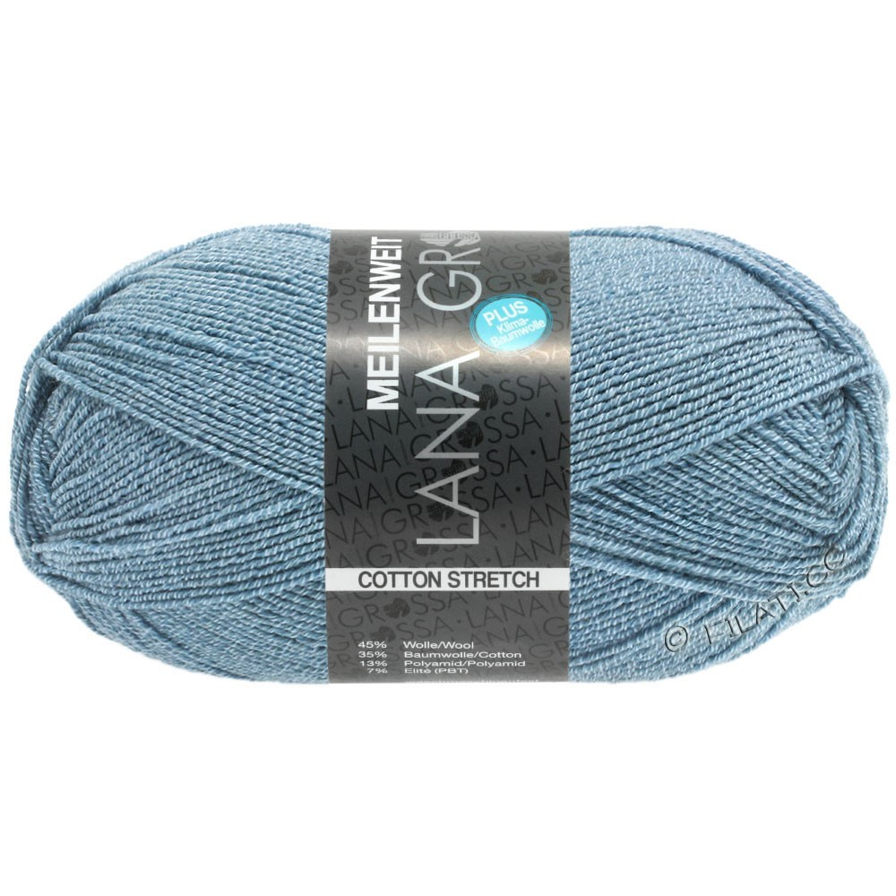 Lana Grossa MEILENWEIT 100g Cotton Stretch | 8051-Himmelblau