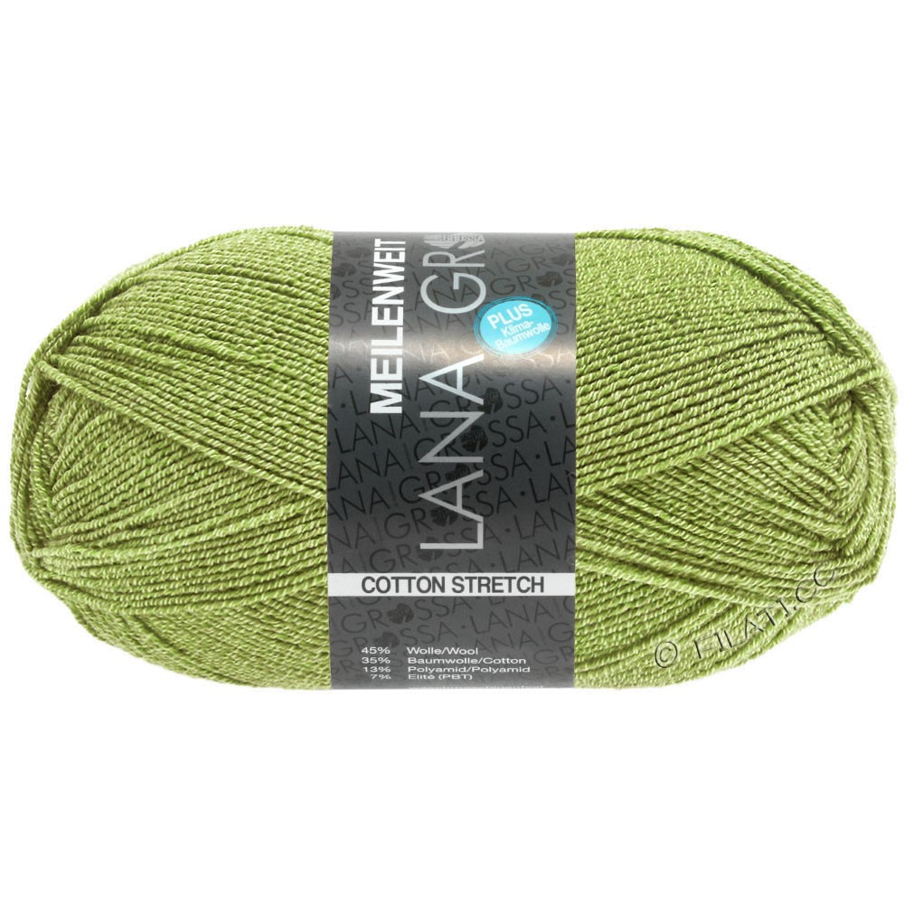 Lana Grossa MEILENWEIT 100g Cotton Stretch | 8054-Maigrün